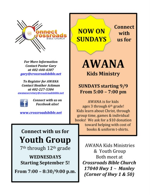 AWANA and Youth Group Flyer