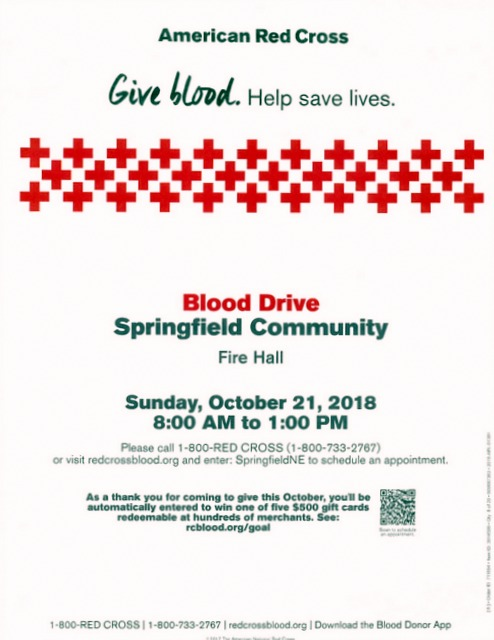 Blood Drive Oct