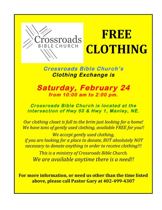 Crossroads Bible Clothing Exchange