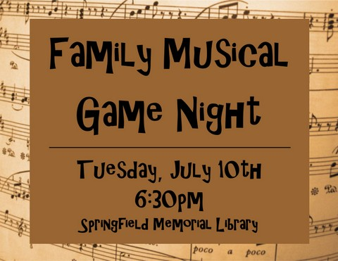 Family Musical Game Night Flyer