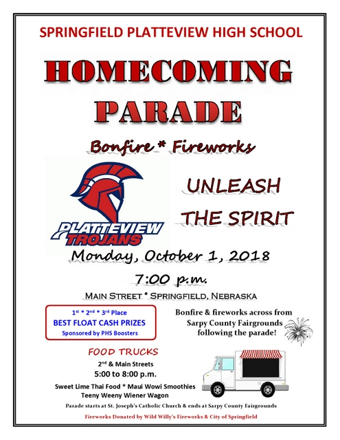 Homecoming 2018 Parade Flyer