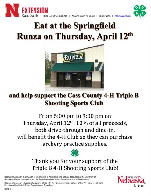 Triple B Fundraiser April 12