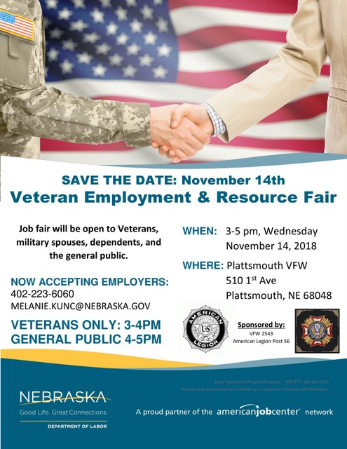 Veteran Job Fair Save the Date page 0