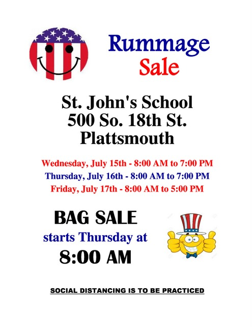 July Rummage Sale Flyer page 0