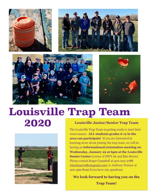 Louisville Trap Informational Meeting Flyer page 0