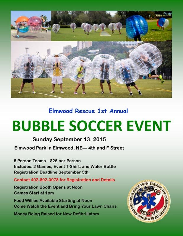 Bubble Soccer Flyer