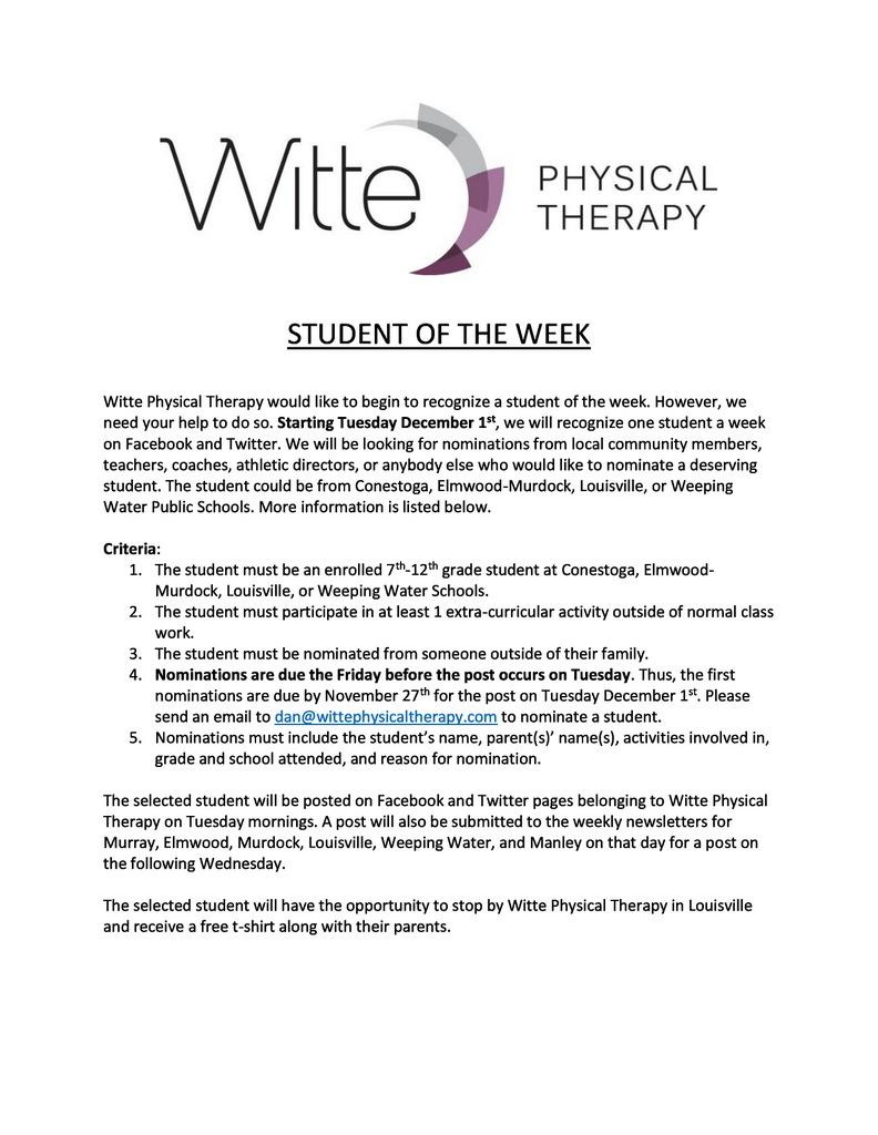 Student of the Week page 0