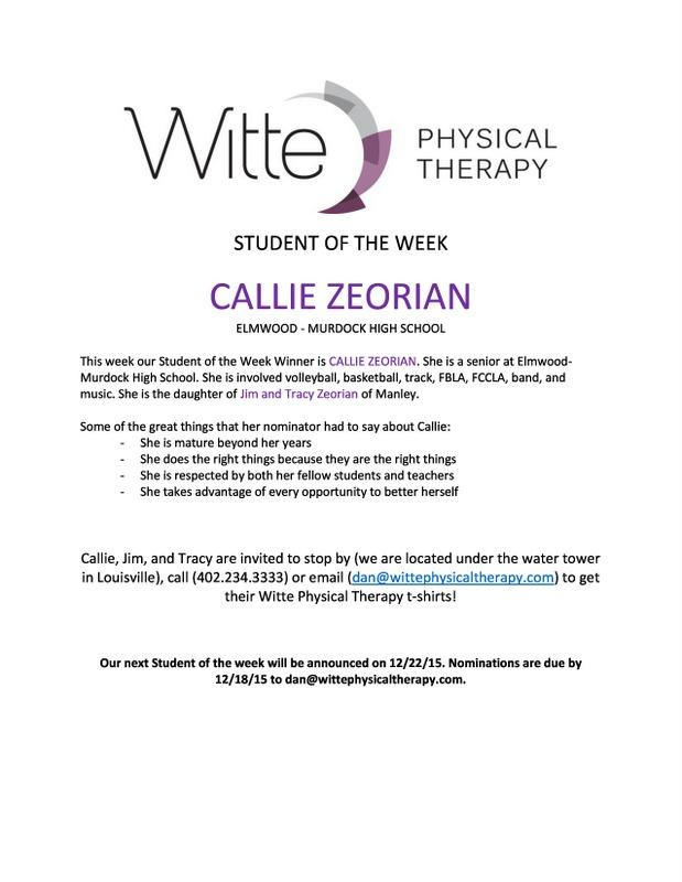 Student of the Week Select