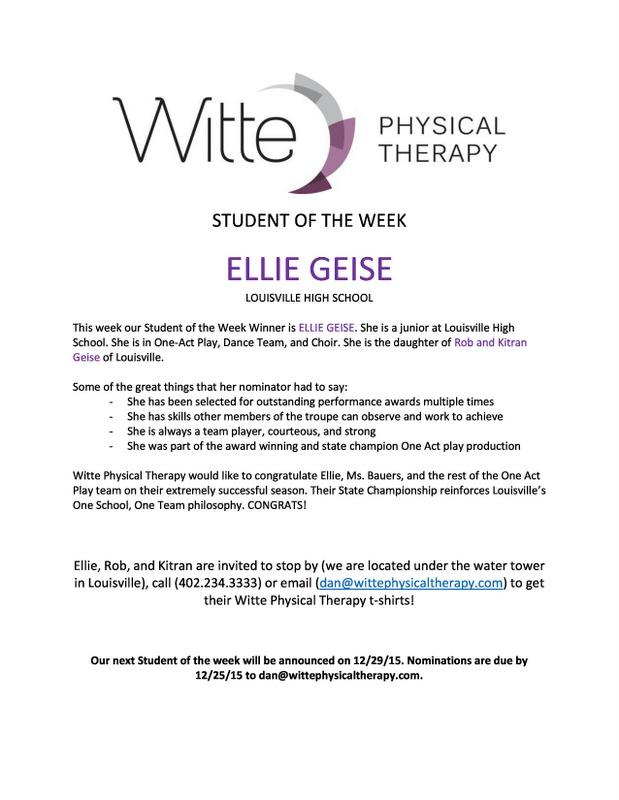 Student of the Week Selection1