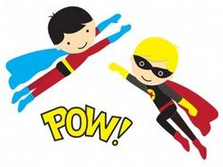 free superhero clipart superhero clipart 1 boy girl flying