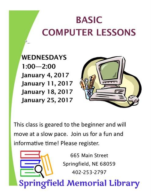 Basic computer lessons 2016