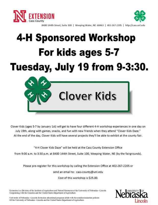 Clover Kids Daze Workshop