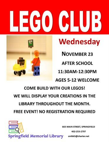 Lego Club Nov
