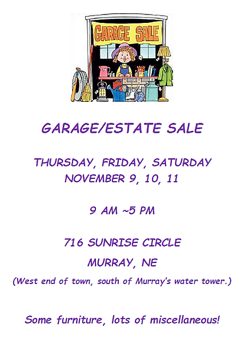 2017 11 01 Garage Estate Sale