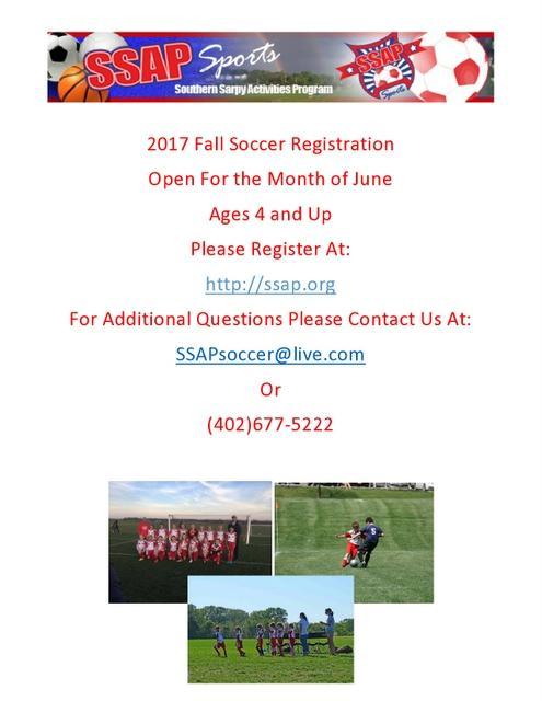 2017 Fall Soccer Registration