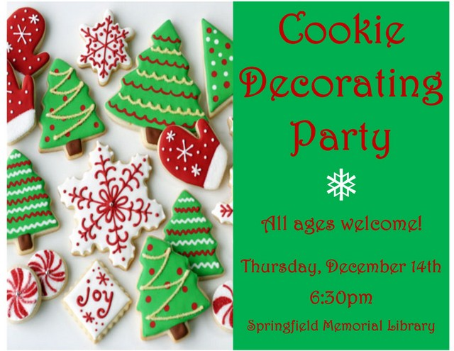 Cookie Decorating Flyer