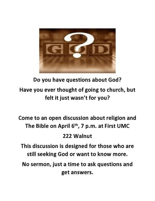 Do you have questions about God