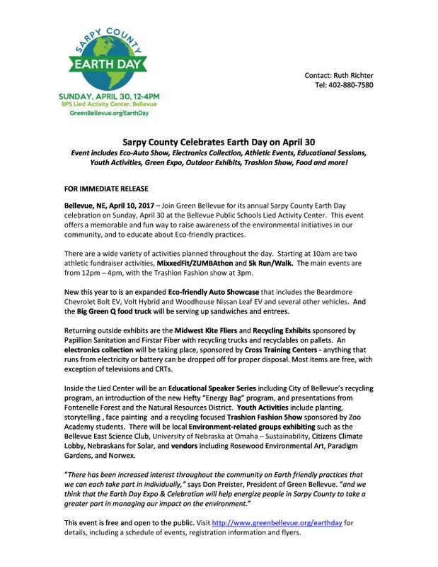 Sarpy County Earth Day 2017