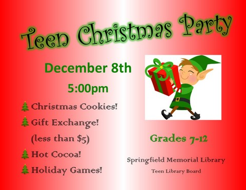 Teen Christmas Party 2017