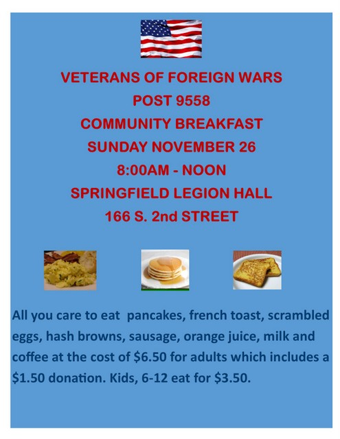 VFW breakfast