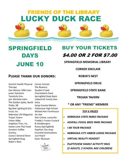 duck Race donor Flyer