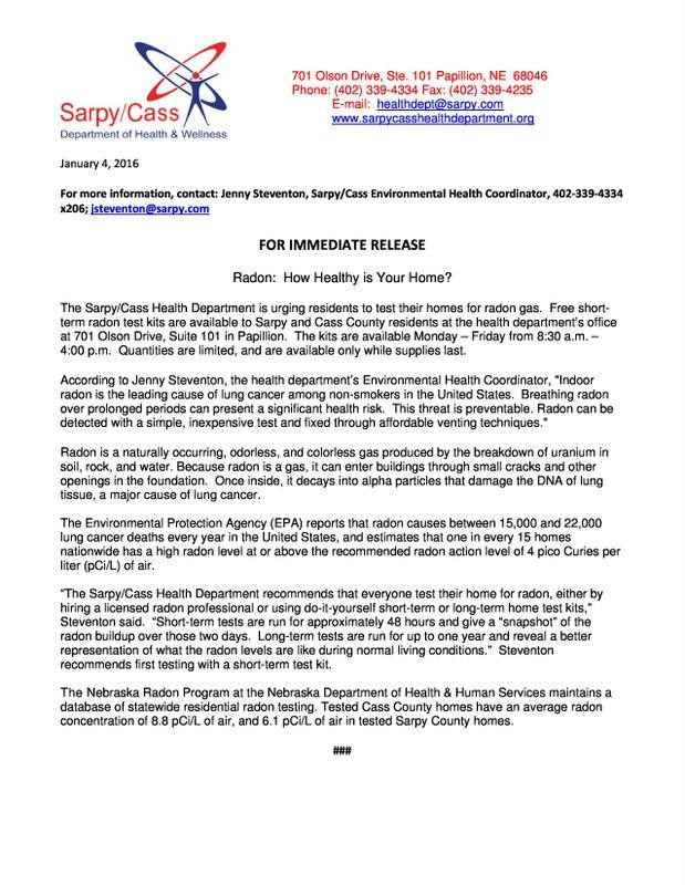 Radon Press Release