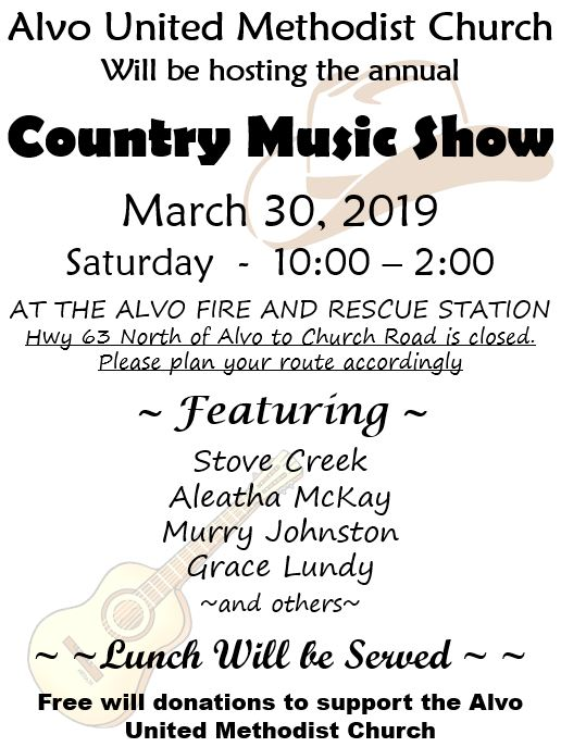 Alvo Country Music Show Flier