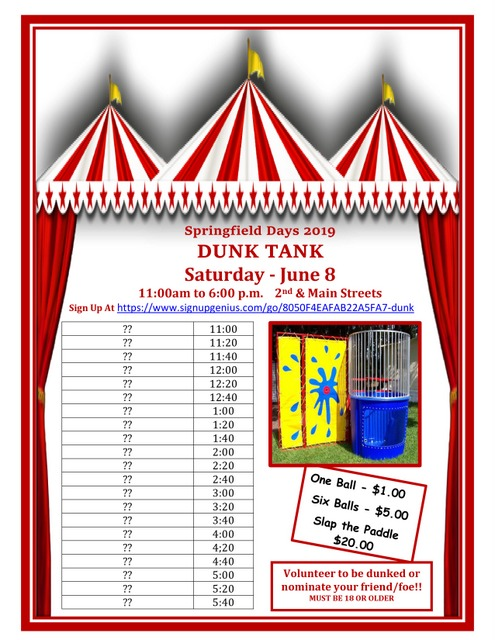Dunk Tank Line Up 2019 blank updated