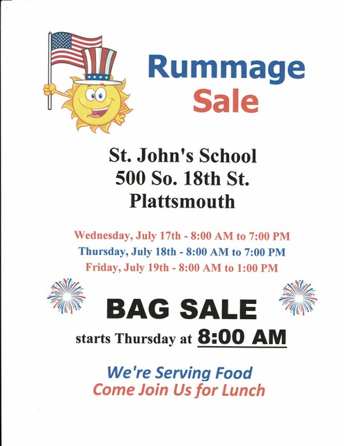 July Rummage Sale page 0