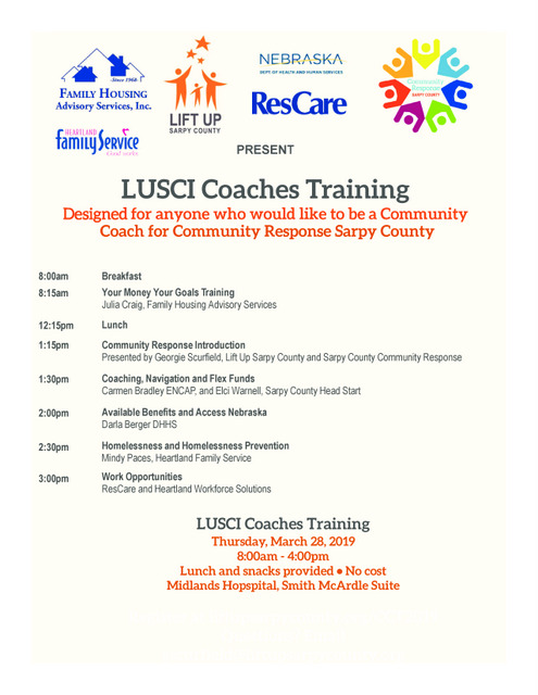 LUSCI Coaches Training March 28