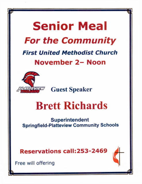 Senior Meal Nov