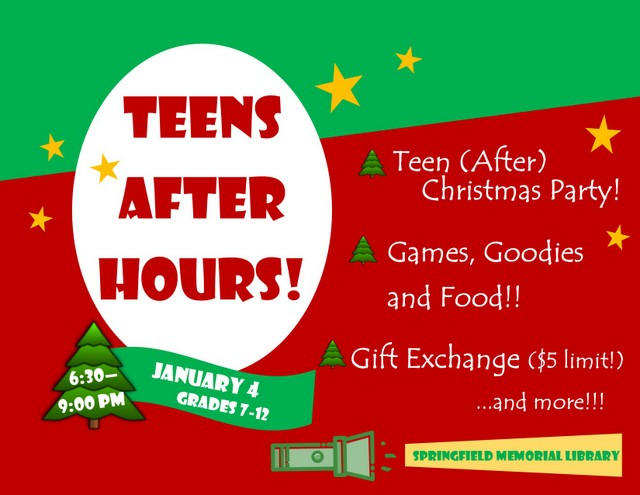 Teen After Hours Christmas 2019
