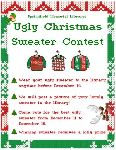 Ugly Sweater Contest Flyer