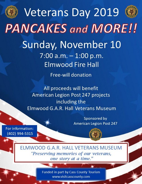 Vets Day Pancake Feed 2019